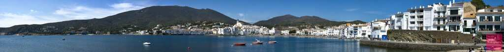 Panoramic view of Cadaques, Spain