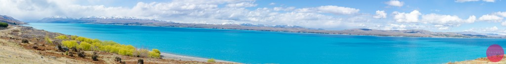 Panoramic view of Lake Pukaki, New Zealand
