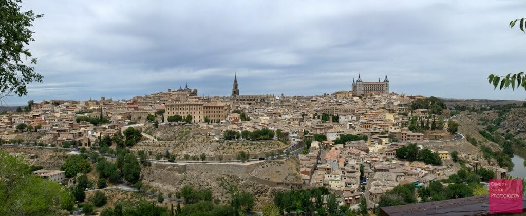A Panoramic View Of Toledo, Spain