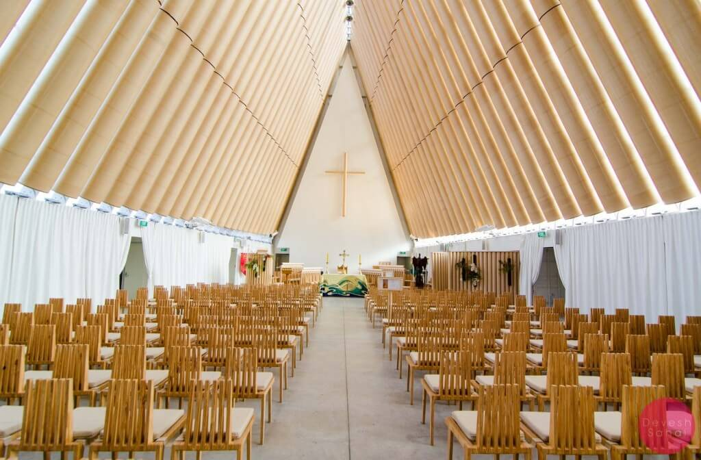 Inside the Cardboard Cathedral