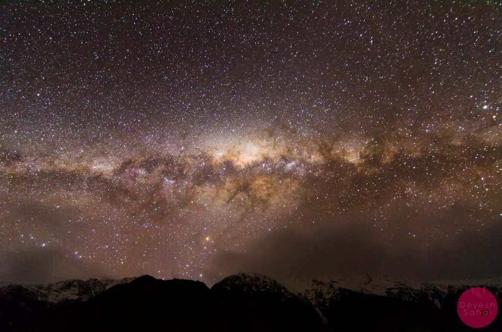 The Milky Way as seen from Mt Cook National Park, NZ