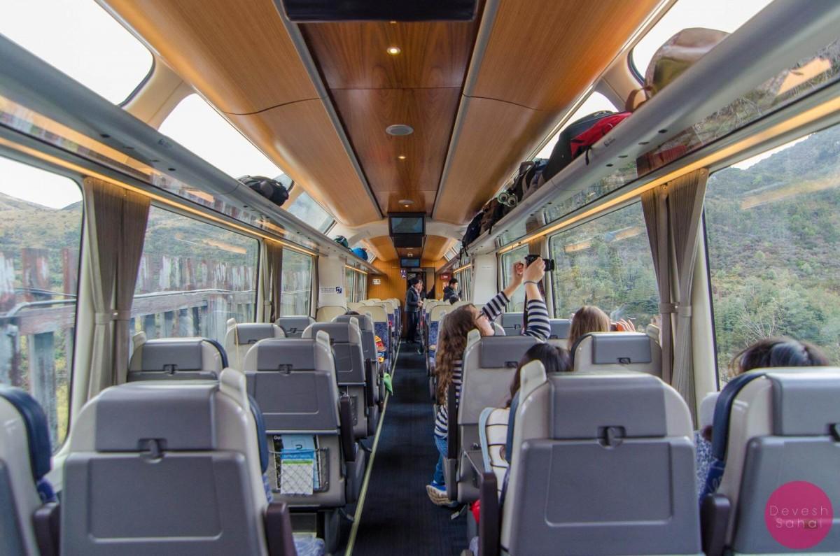 Inside the TranzAlpine Train