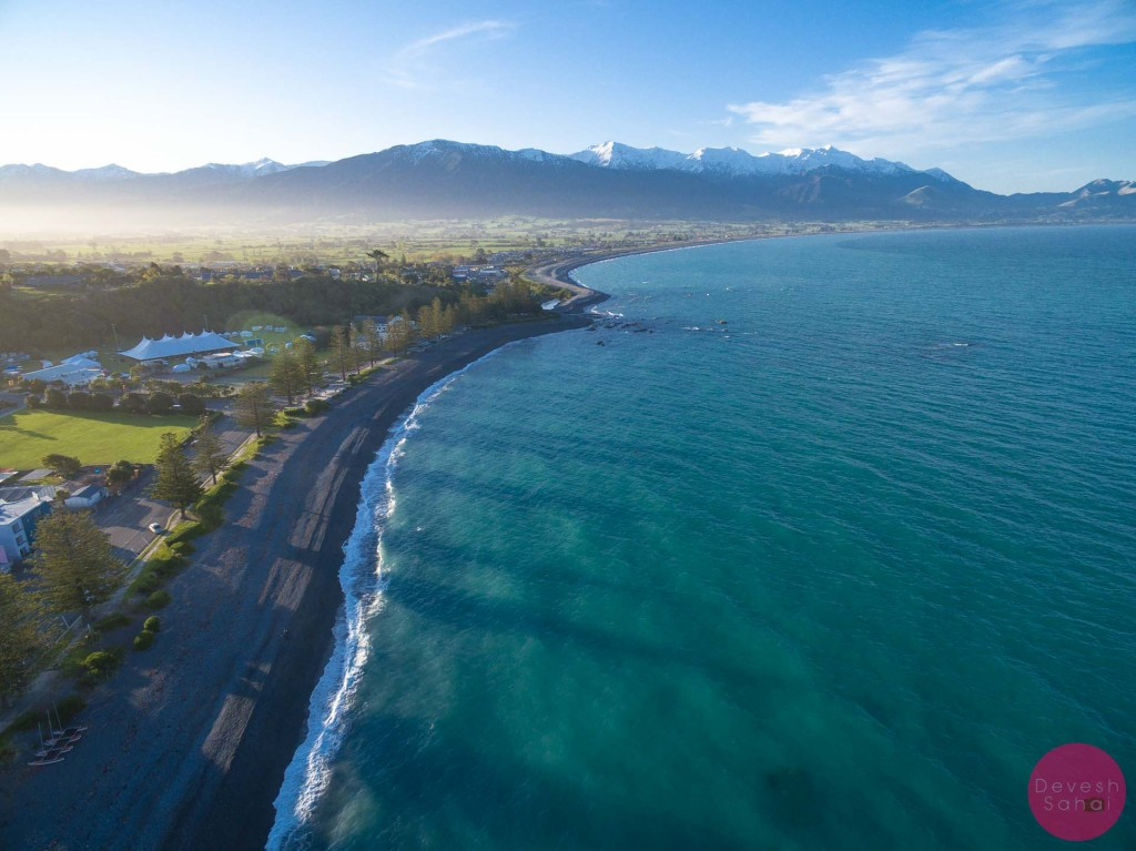 The haze lit up the sunset in Kaikoura