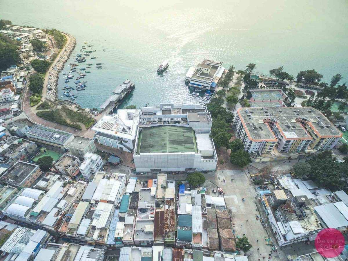 peng chau ferry pier aerial photo