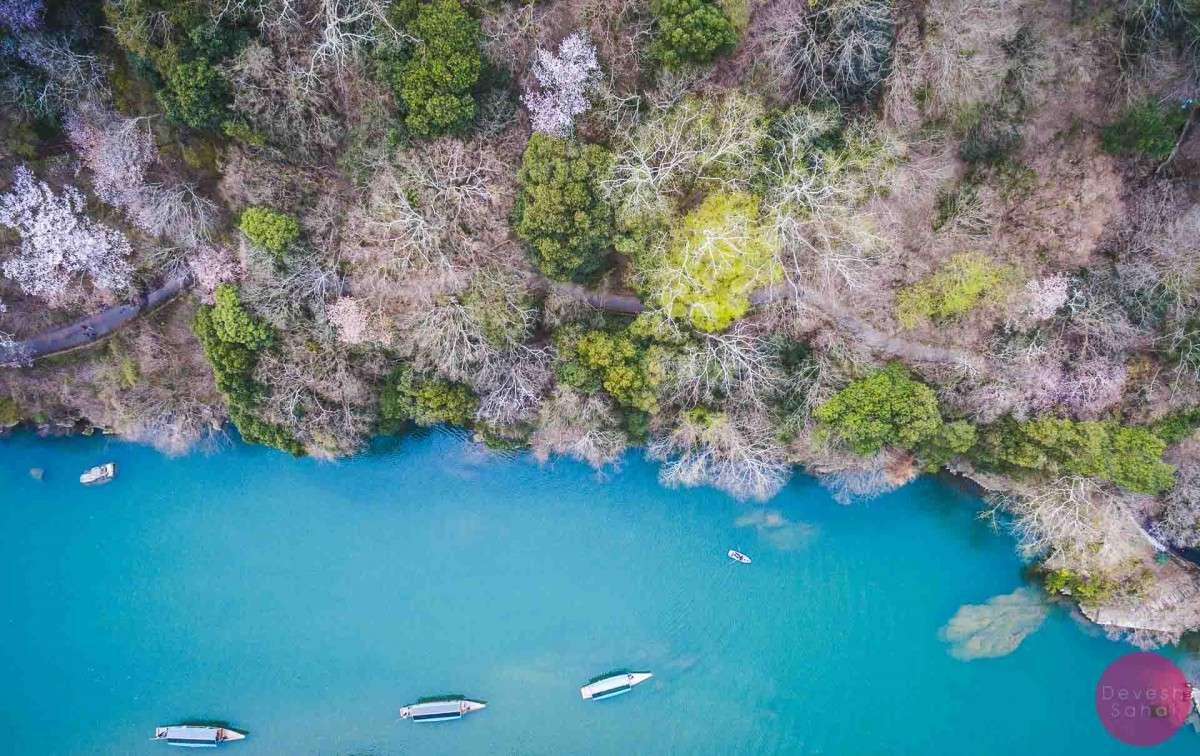 boat katsura river arashiyama