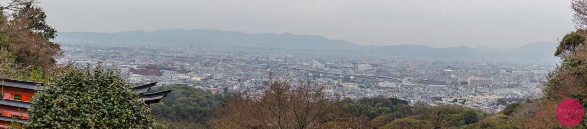A panorama of Kyoto from the Mount Inari