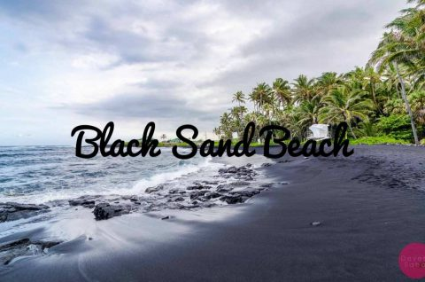 Punaluu Black Sand Beach, Hawaii