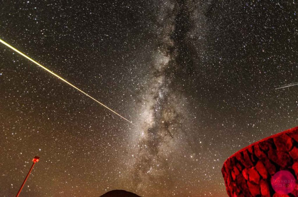 The biggest shooting star I've ever seen (or anyone at Mauna Kea had ever seen). It lasted between 5-10 seconds and streaked across the sky changing colours.