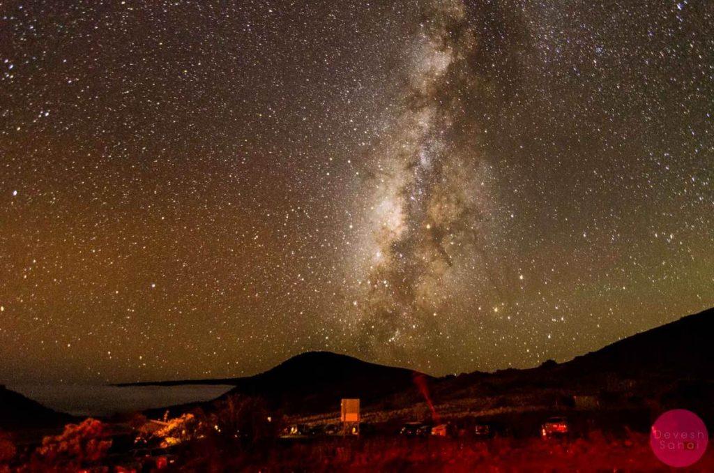Clouds below, the Milky Way above - at Mauna Kea VIS