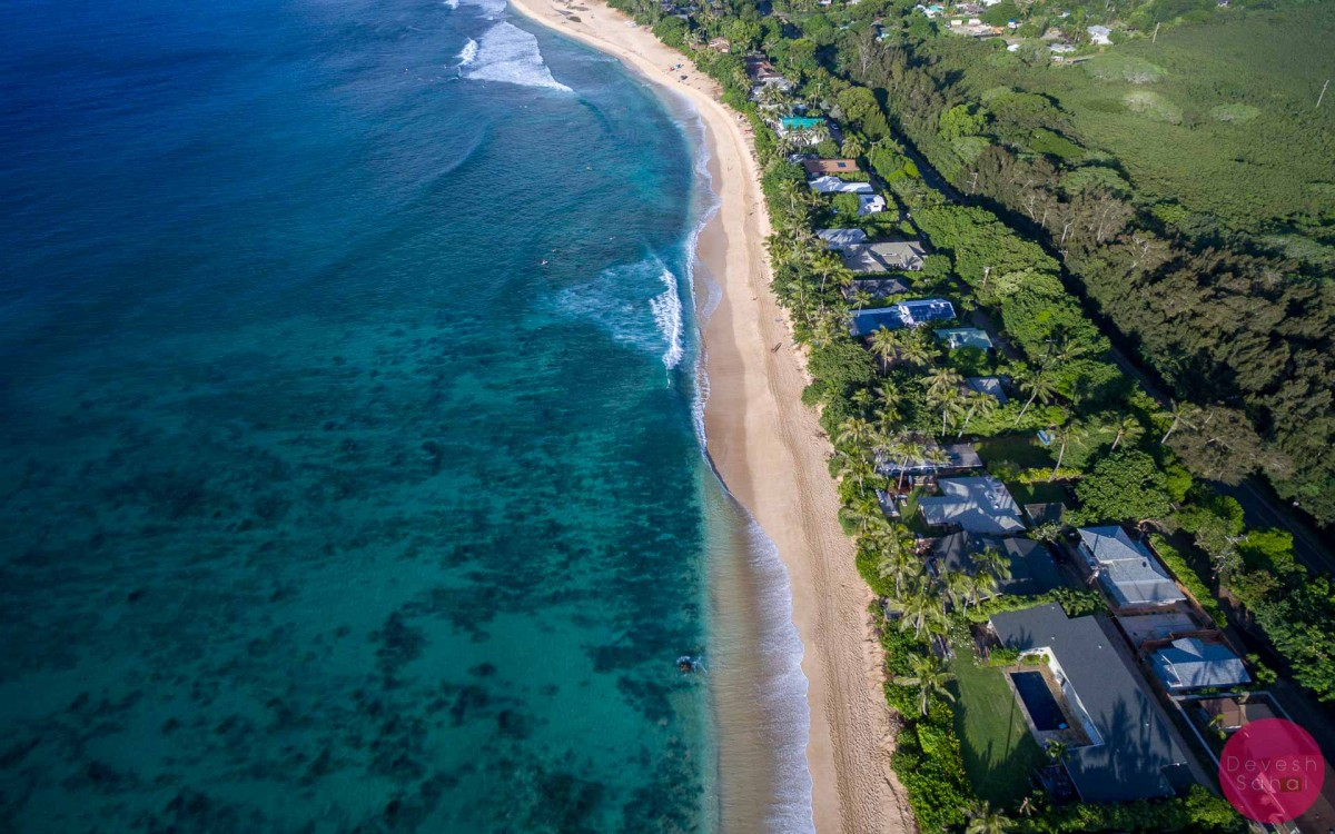 c32f14f01d7ca3 drone aerial photo of banzai pipeline beach hawaii