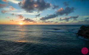 sunset at Turtle Bay oahu