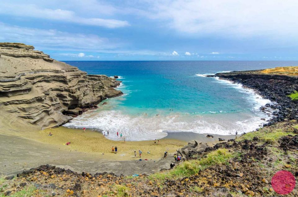 1 Of The 4 Green Sand Beaches In The World