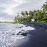 punaluu black sand beach big island hawaii