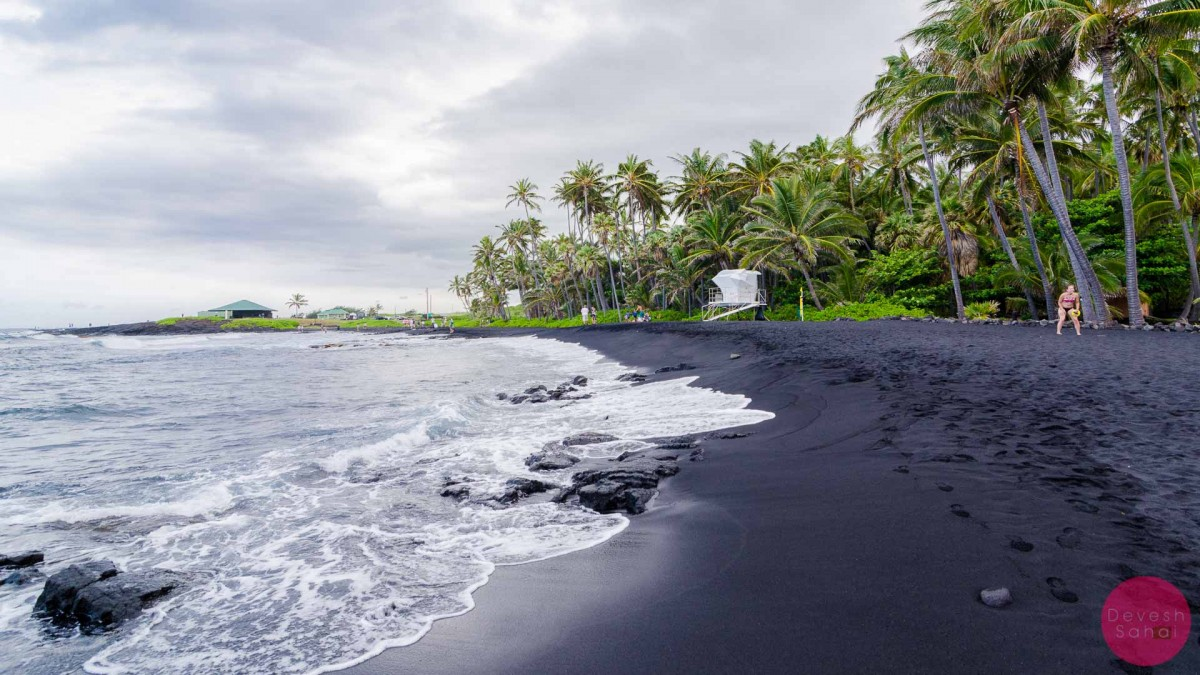 Punaluu black sand beach hawaii turtles black sand Black sand beach hawaii