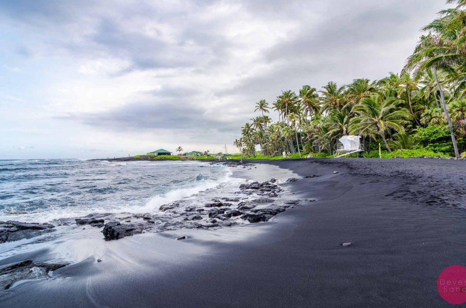 A Beach Made Of Tiny Pieces Of Lava