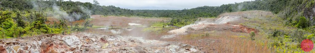 Panoramic view of the Haakulamanu (Sulphur Banks) Trail at the Volcanoes National Park