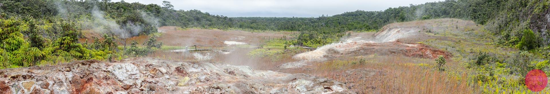 Panoramic view of the Haakulamanu (Sulphur Banks) Trail at the Volcanoes National Park