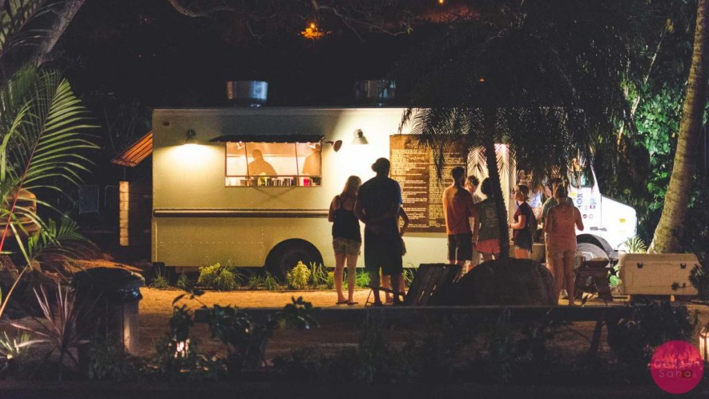 The Elephant Thai food truck at Shark's Cove