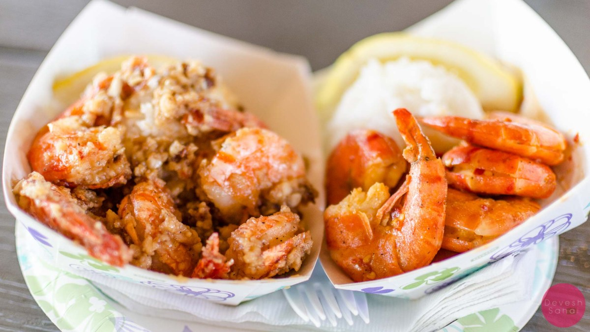 The best garlic shrimp in the world from Giovanni's Shrimp Truck