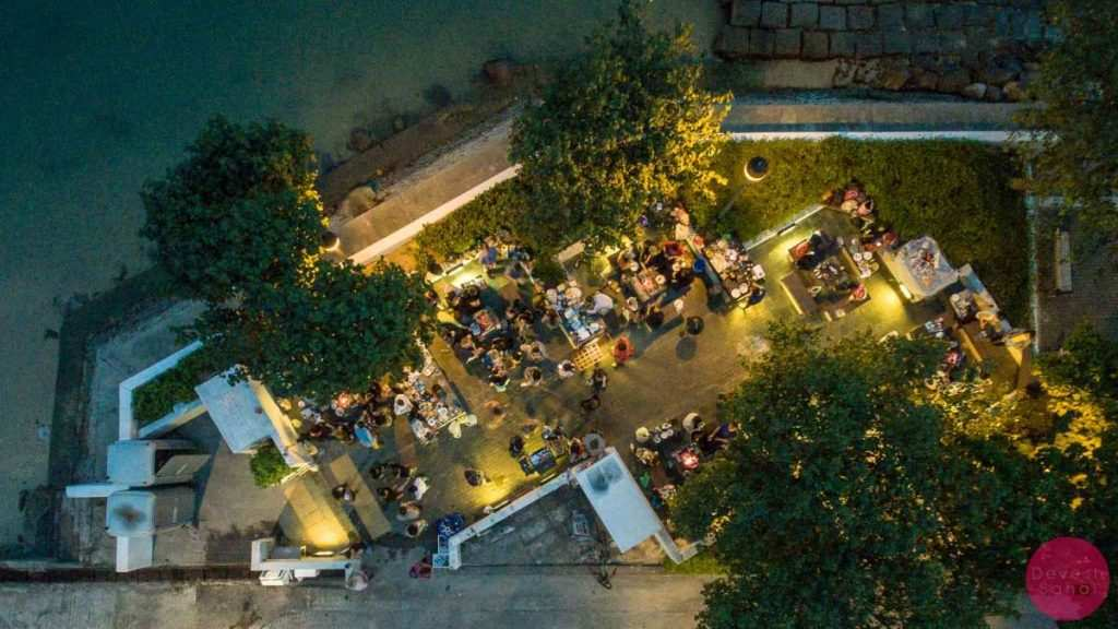 aerial view of the bbq pits at peng chau island
