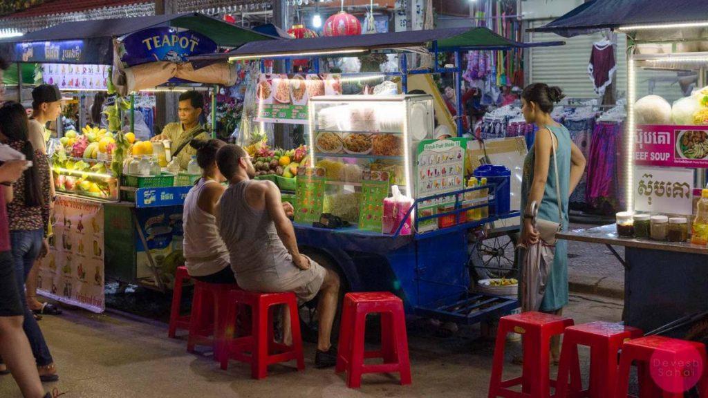 siem reap street food stall