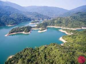 Shing Mun Reservoir aerial view
