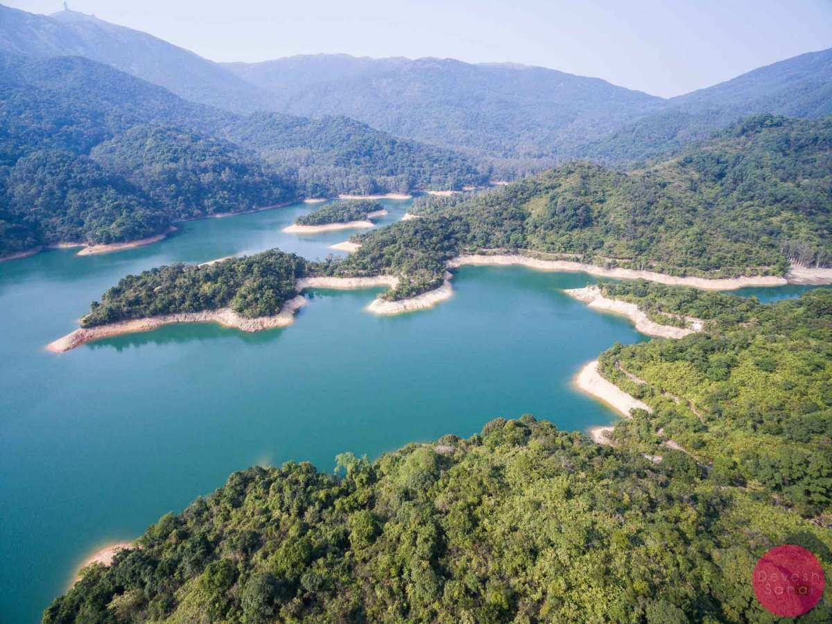 Shing Mun Reservoir aerial view