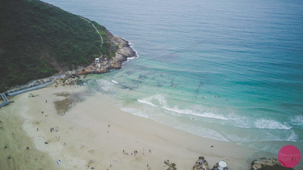 big wave bay hong kong aerial photo