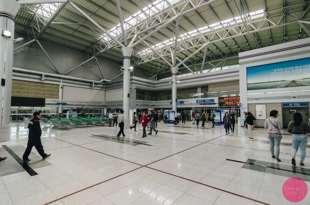 inside dorasan station