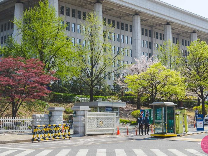 spring season national assembly building seoul