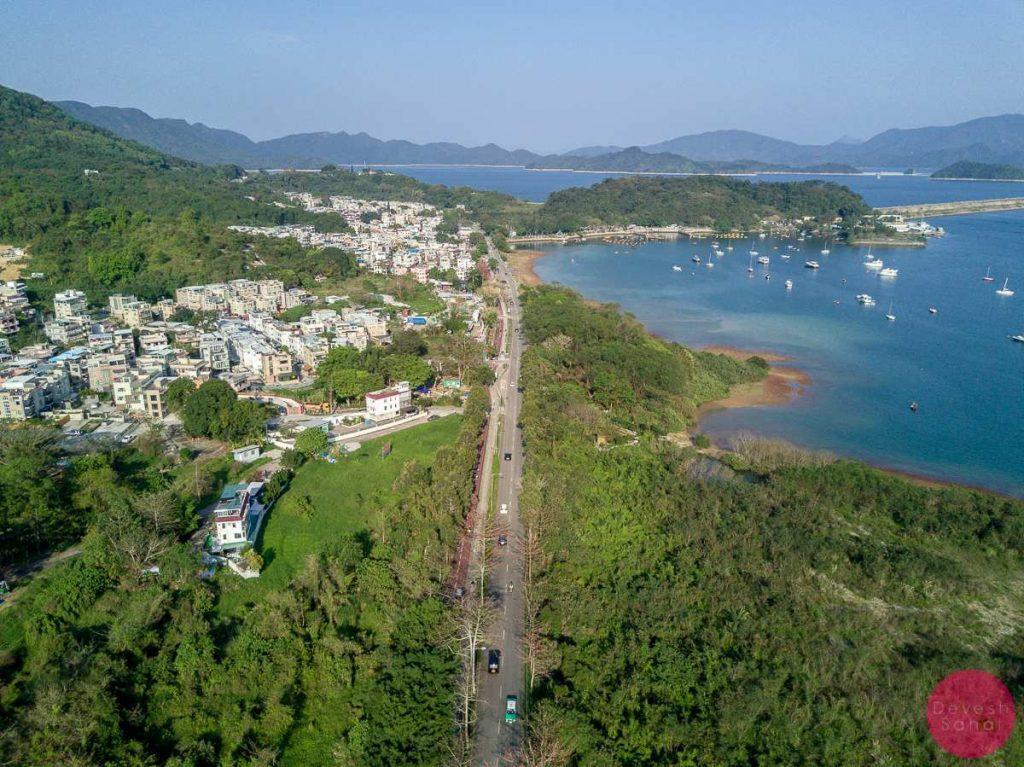 tai mei tuk aerial view hong kong