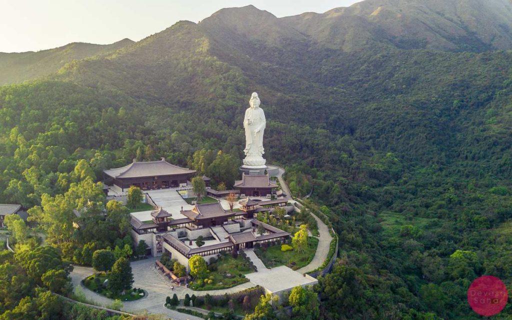 monastery statue green hills hong kong