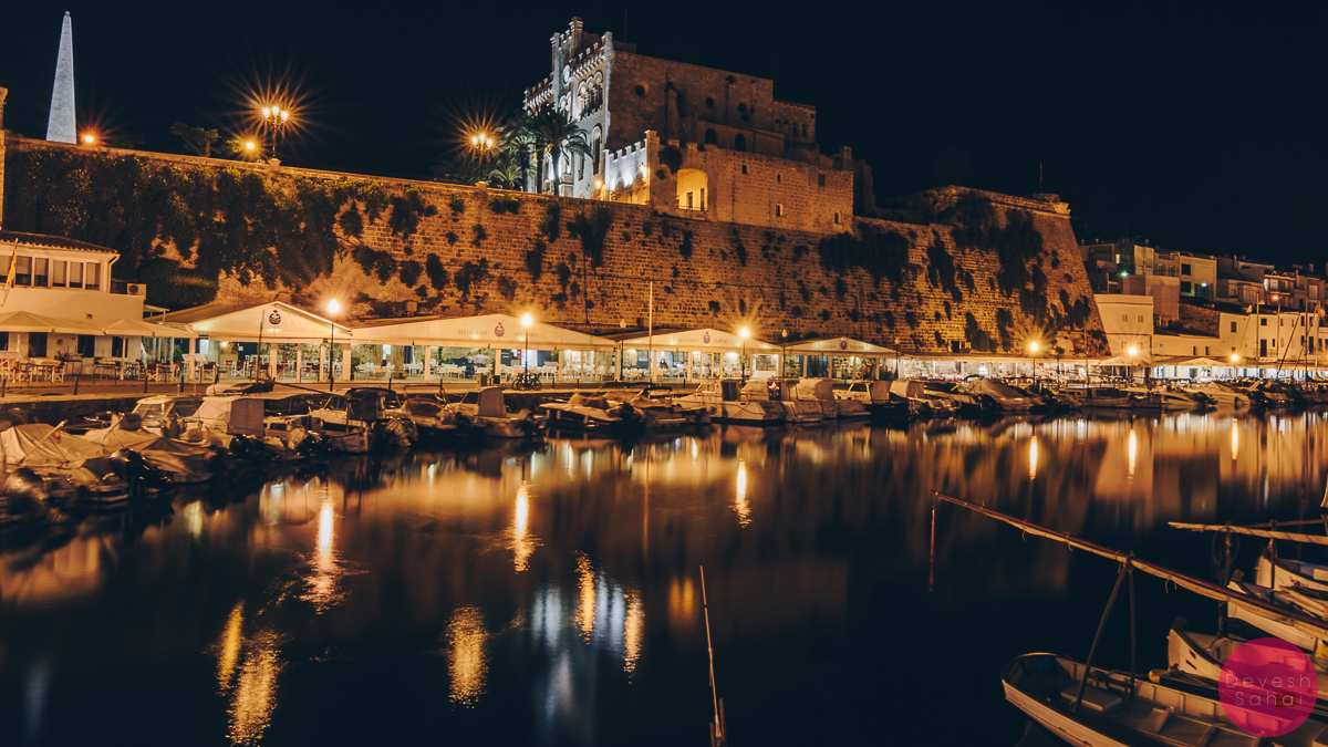 ciutadella at night menorca