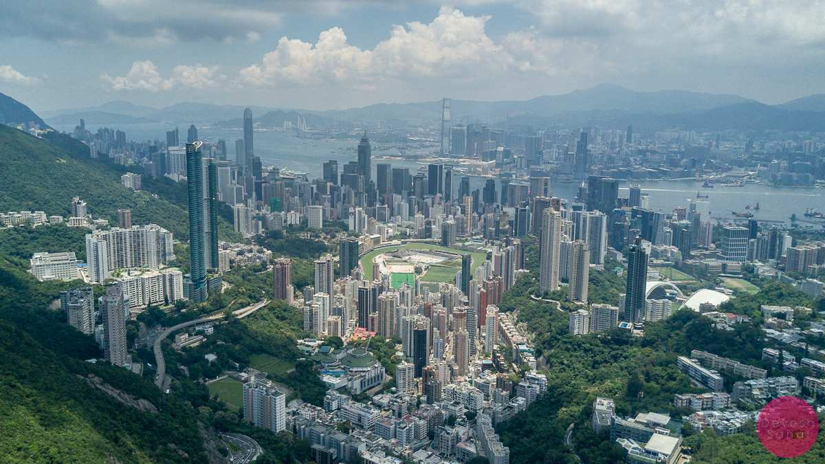happy valley hong kong aerial view photo