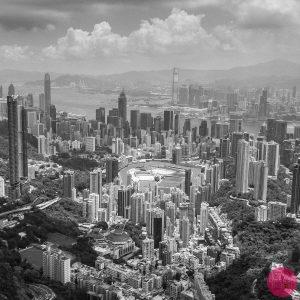 happy valley hong kong aerial view photo