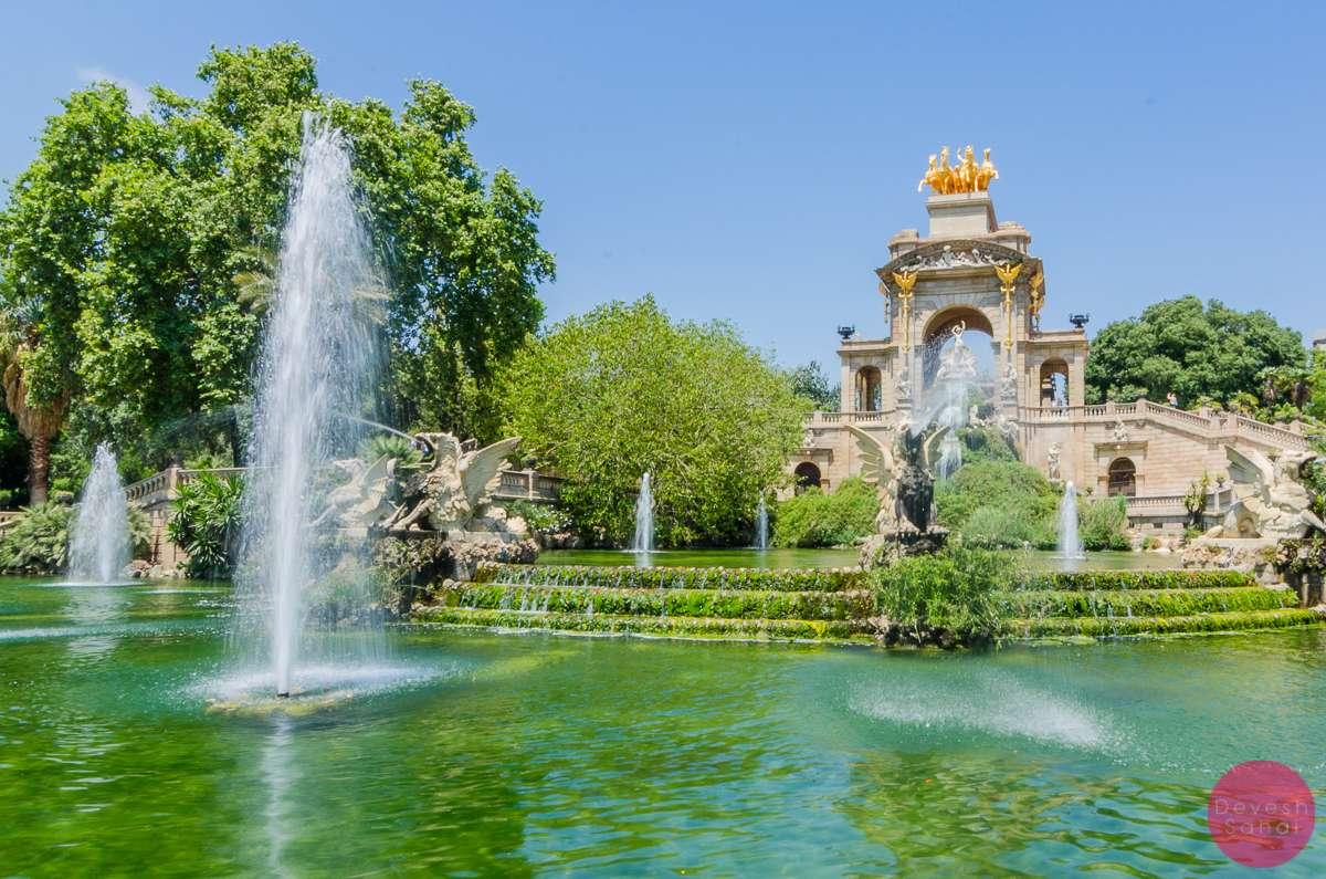 Cascada Monumental ciutadella park barcelona