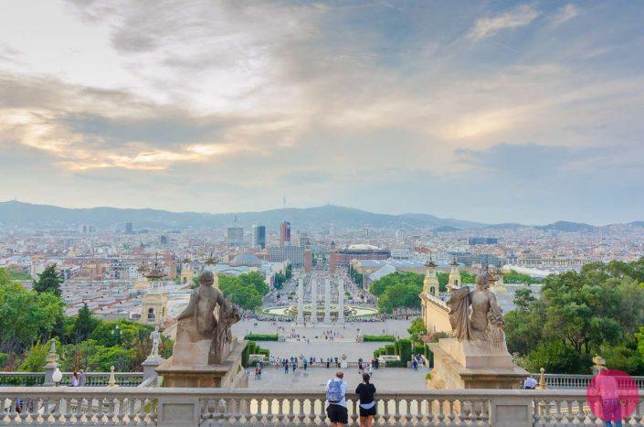 barcelona sunset mnac
