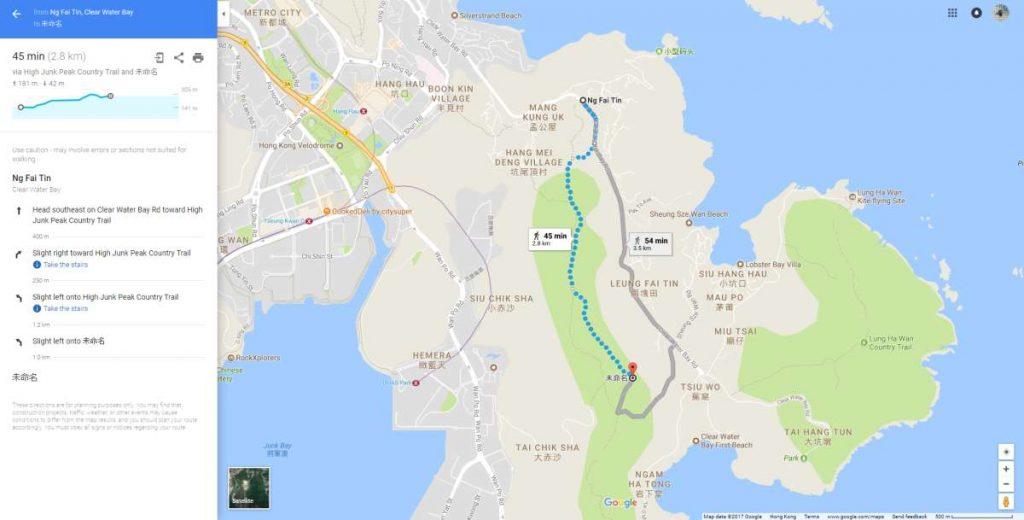 High Junk Peak hike map