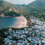 Shek O Beach Hong Kong aerial photo