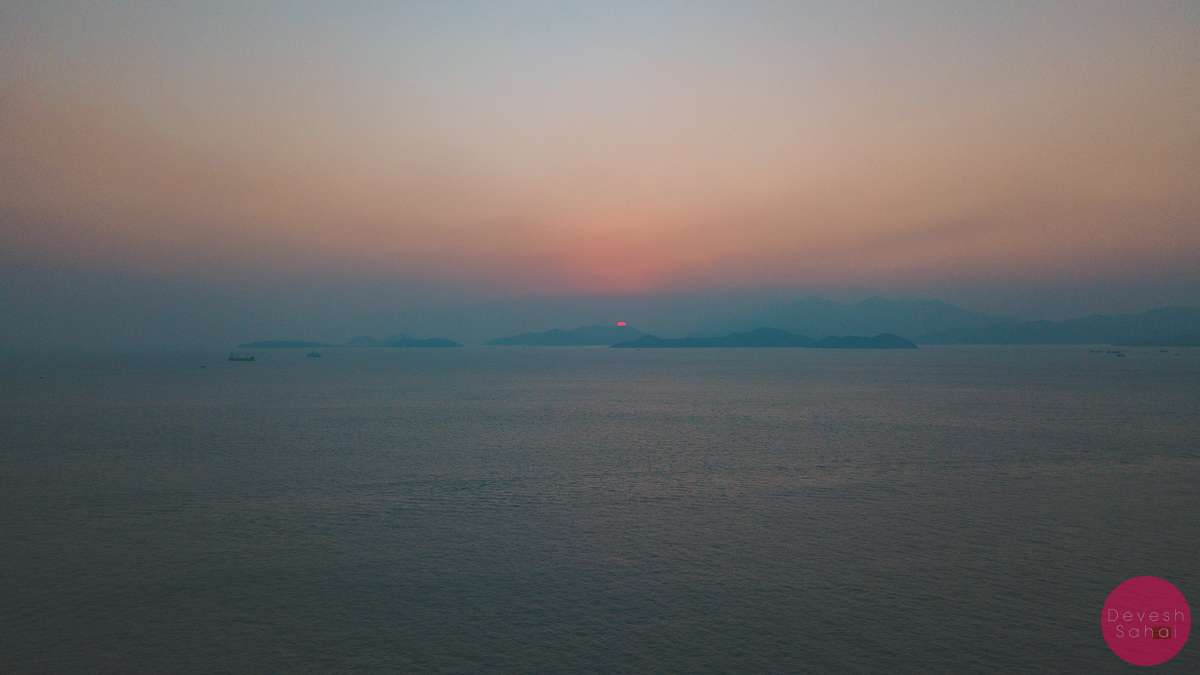 cyberport hong kong sunset