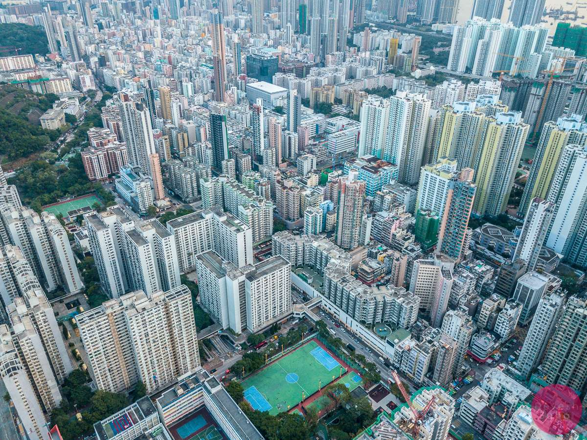 hong kong urban aerial photo
