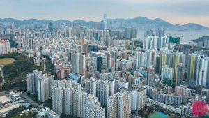 kowloon hong kong aerial photo