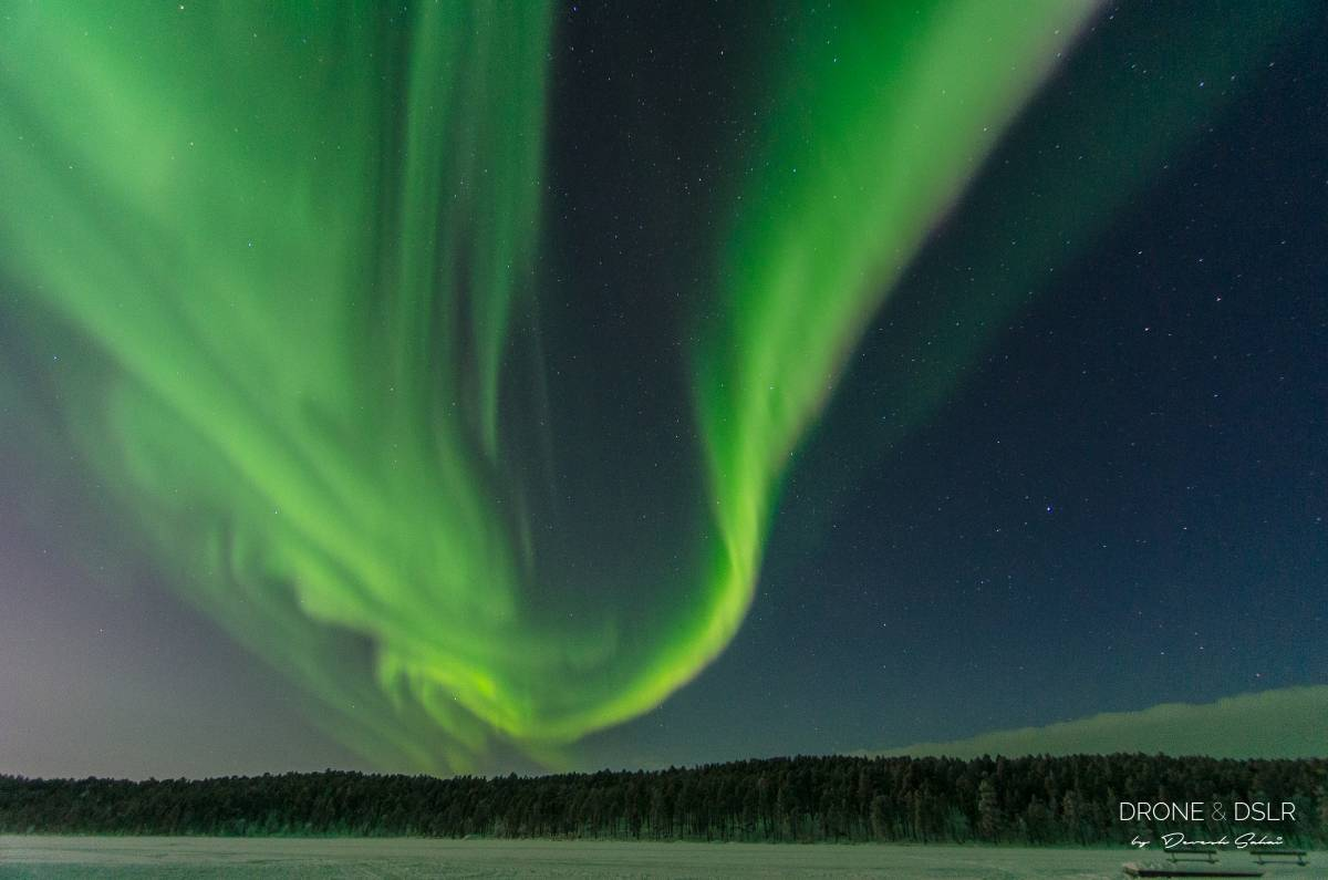 northern lights across the sky in finland