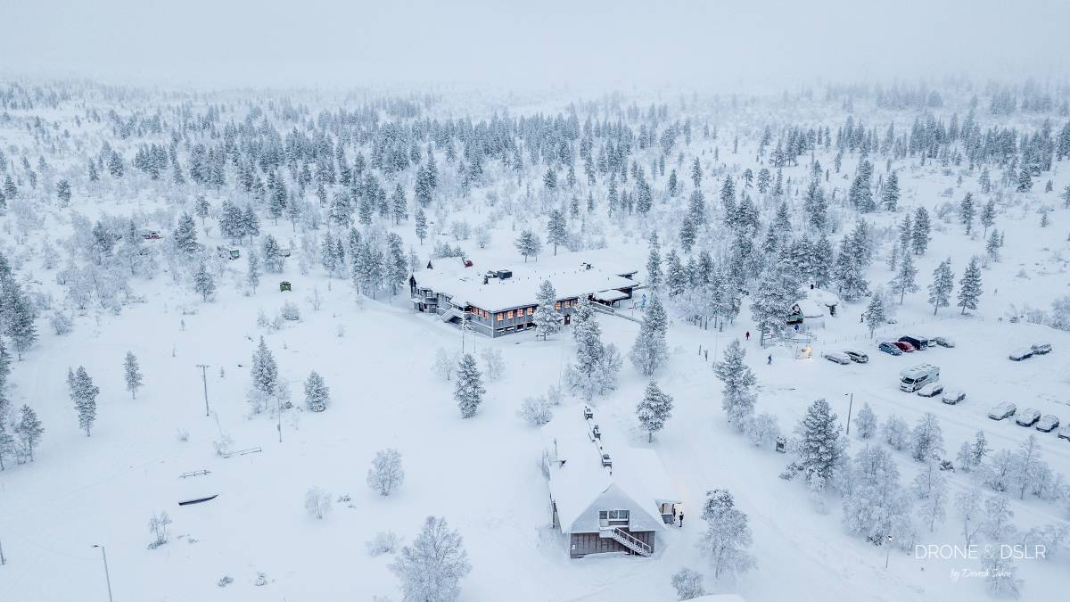 aerial photo of snow covered kiiloppa, finland