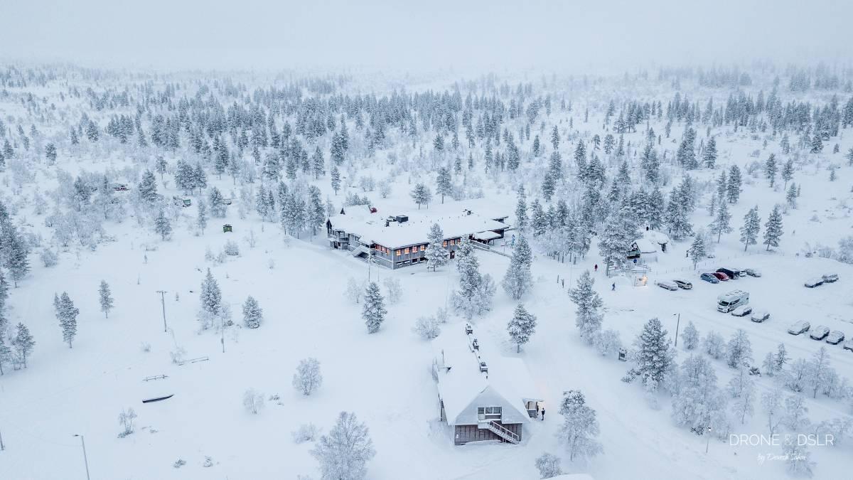 aerial photo of snow covered kiiloppa, finland