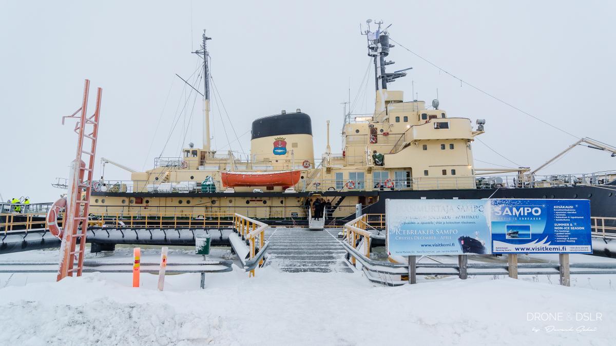 icebreaker sampo docked in kemi, finland