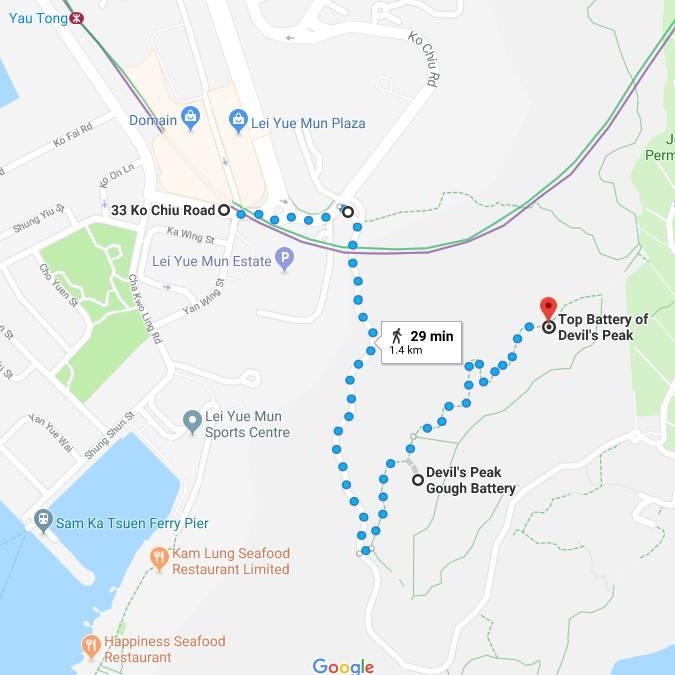 Devil's Peak Hike Map