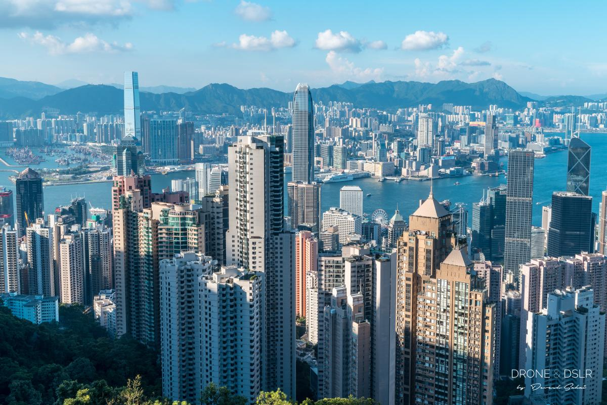 view of hong kong from victoria peak on a clear day