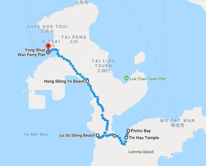 Lamma Island Family Trail Map