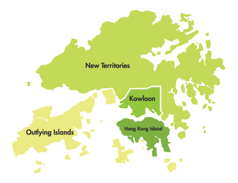 hong kong regions map